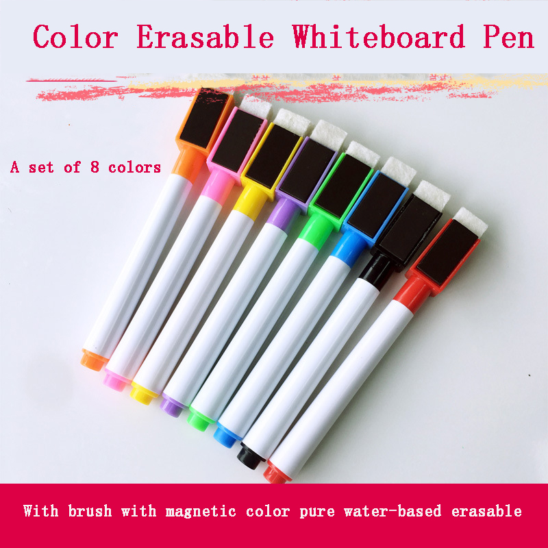 8Pcs Magnetic Soccer Board Whiteboard Pen Football Board Water-based Erasable Whiteboard Pen For Volleyball Basketball Board