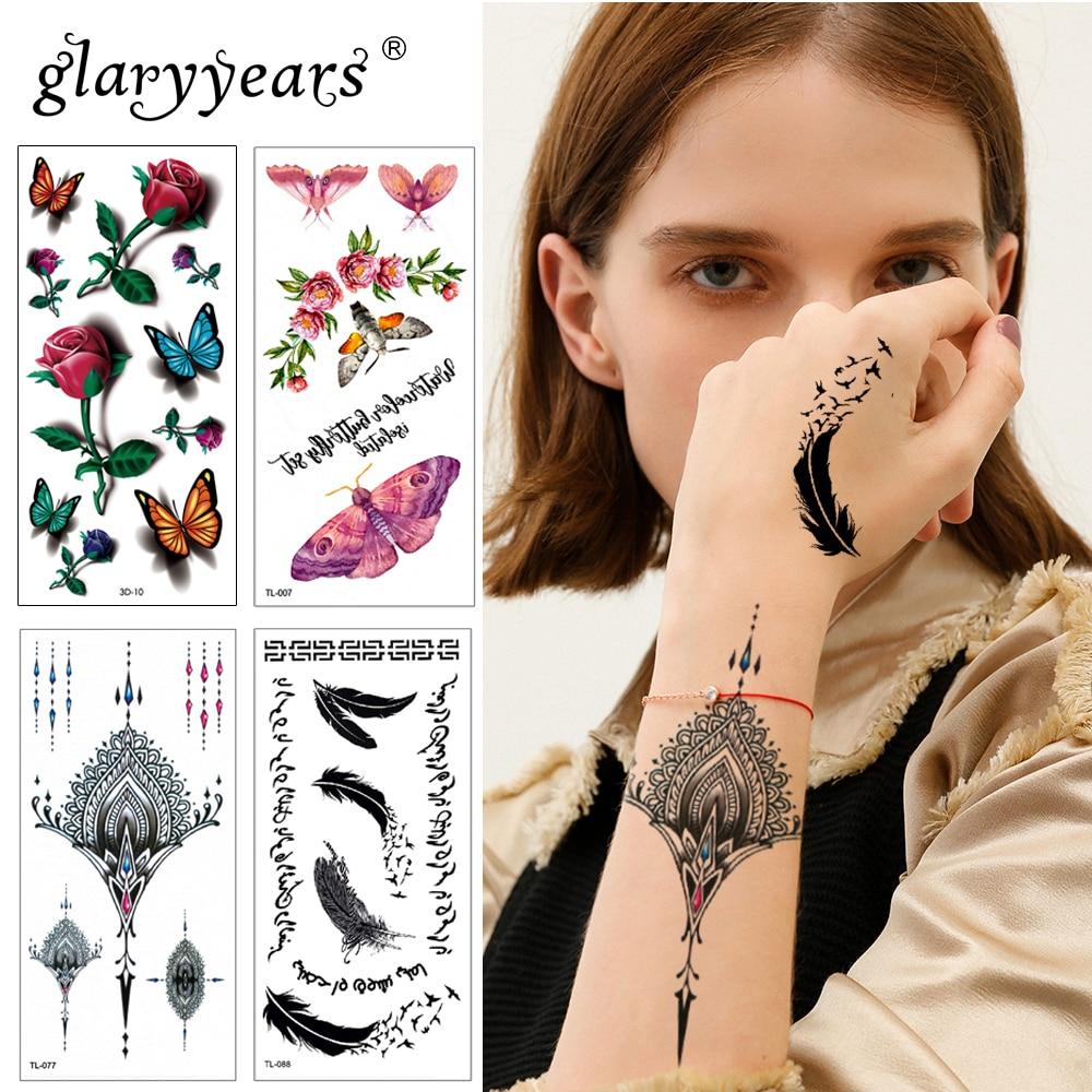 Glaryyears 25 Designs 1 Sheet Women Jewelry Tattoo WST-TL Temporary Body Chest Waist Art Tattoo Sticker Cool Sexy Choker Pendant