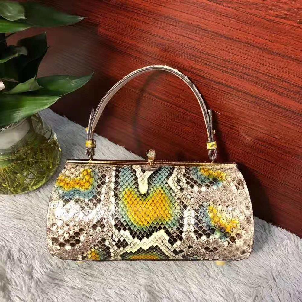 100% реальный/натуральная змеиная кожа, женская сумка тоут красочные кожи питона женские вечерний клатч Сумка тоут с кошельком