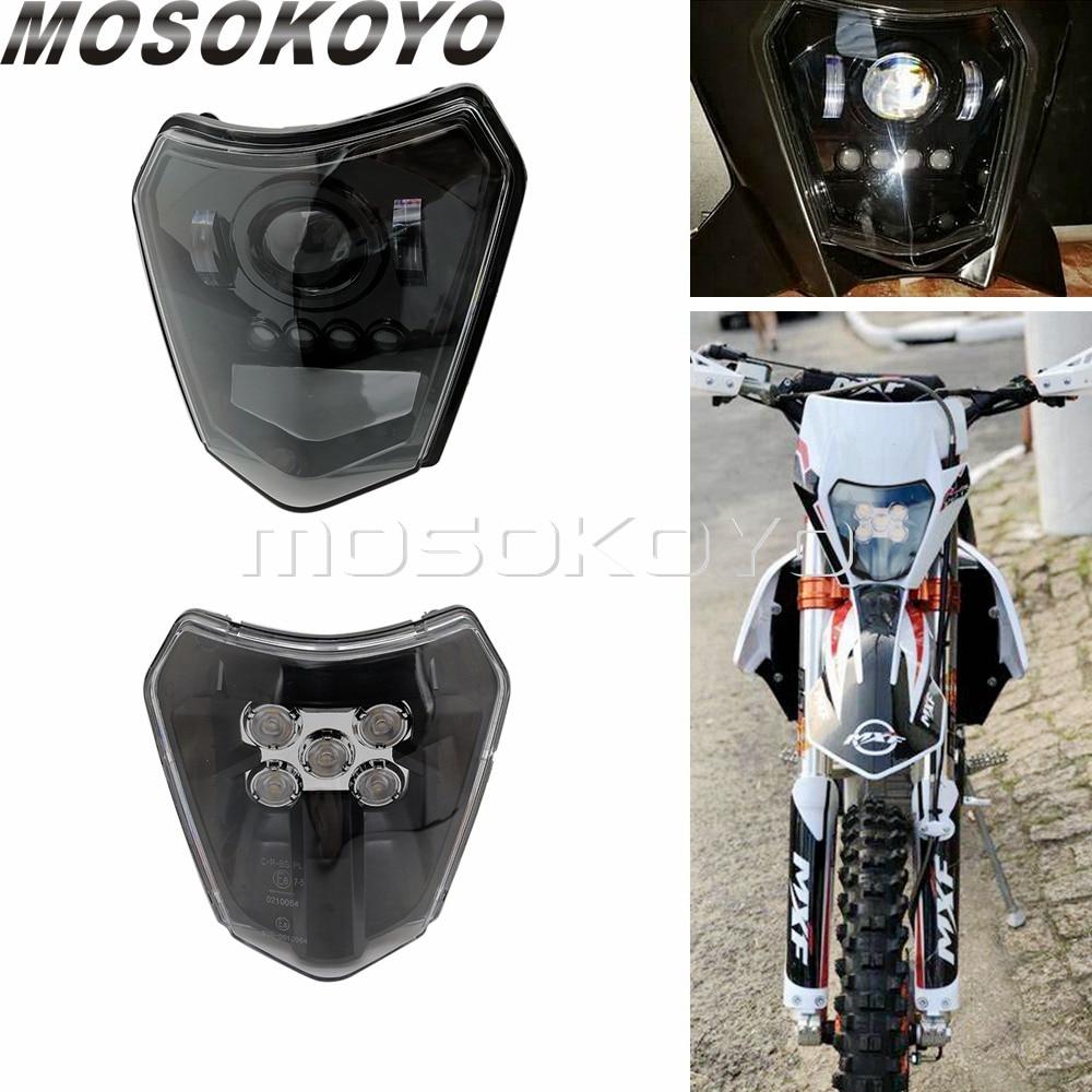 For Husqvarna KTM Enduro E8 LED Headlight DRL HI LO Beam Running Light EXC-F EXC XC XCF XC-W Six Days TPI SMCR Front Headlamp