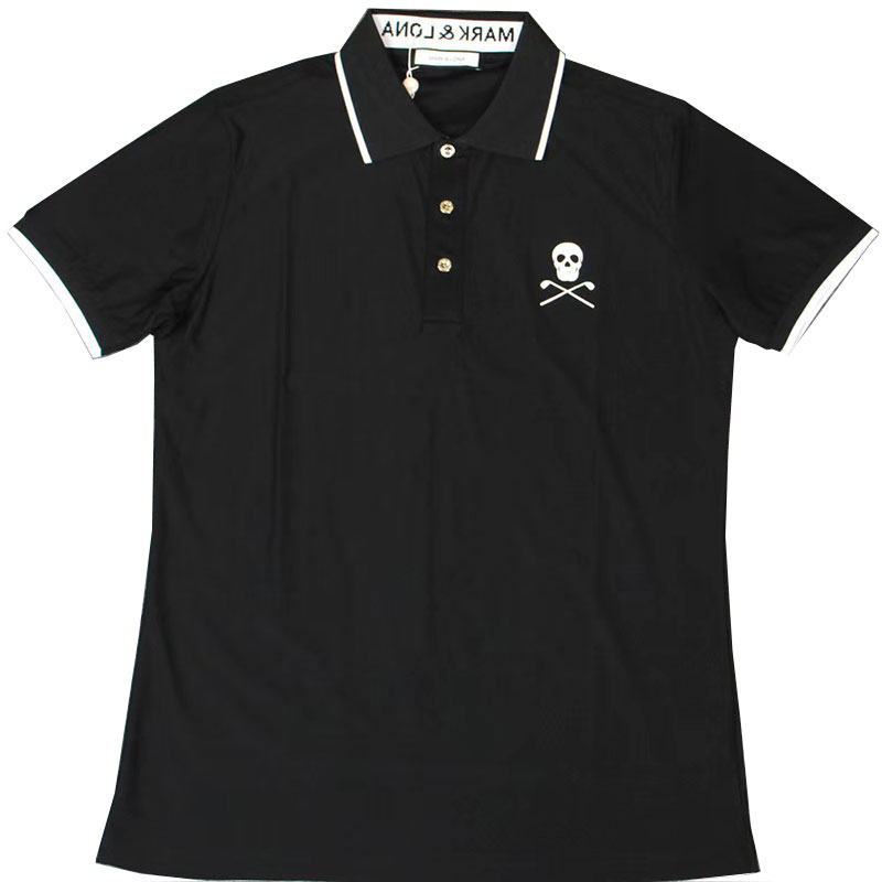 Swirling New Golf Clothing MORK&LONA  Men's Summer Golf T-Shirt Moisture-wicking Anti-UV Golf T-Shirt Free Shipping