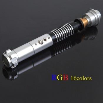 LGT Luke RGB Jedi Luz de cosplay Saber 16 colores LED espada de estrellas decoloración Metal mango Wars sable de luz luminoso palo de luz