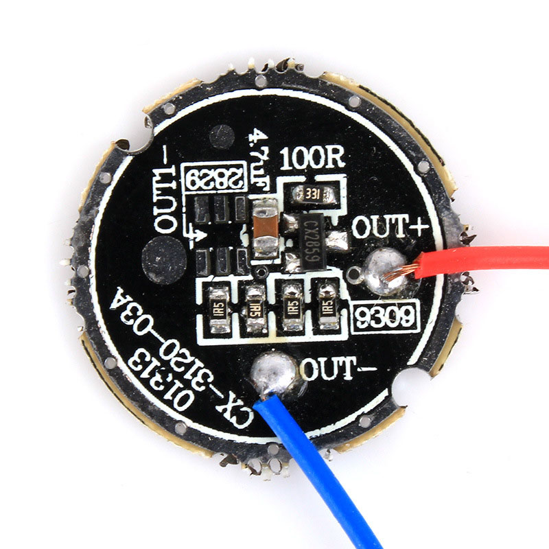 P22 Flashlight Circuit Board 3.6V 3 Modes 20MM Diameter Torch Drive Board For 1W 3W 5W LED
