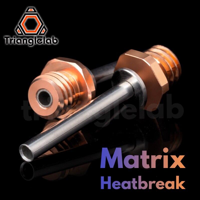Trianglelab матрица Heatbreak биметаллический биметаллических кольцевых пил, горла для матрица экструдер Hotend 3D-принтеры матрица Запчасти для экстру...