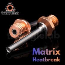 Trianglelab matriz heatbreak bimetal bi-metal garganta para extrusora de matriz hotend impressora 3d extrusora de acionamento direto