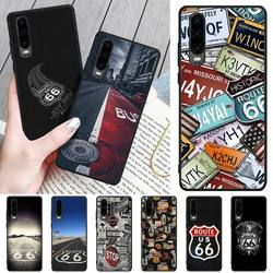 На Алиэкспресс купить чехол для смартфона baweite us route 66 customer high quality phone case for huawei p8 lite 2017 p9 p10 20pro lite pro p30lite p smart 2019