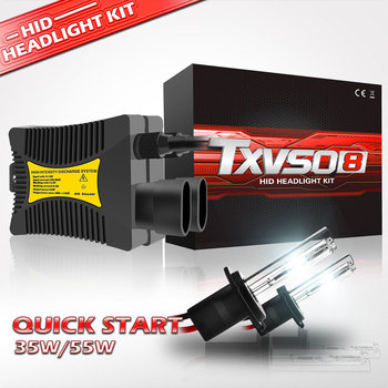 TXVSO8 uniwersalny ksenonowe H7 55W 12V żarówki reflektorów samochodowych zestaw HID H1 H3 H4 H8 H9 H11 H13 H27 9004 9005 HB3 9006 9012 5202 u nas państwo lampy 2020 tanie i dobre opinie TXVSO8 LX 8000LM Set IP68 360 degree -40 to 105 ° C 1 Year Universal Light sourcing h7 xenon hid kit kit xeon xenon h1 xenon h4 xenon xenon h7