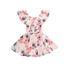 1-6T toddler girl dresses scoop neck pink short sleeve girls party dress kids summer dress girl