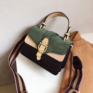 Image 2 - 2019 New Brand Women Leather Handbags Famous Luxury Designer Contrast Color Fashion Shoulder Bags Female Crossbody Purses Bolsas
