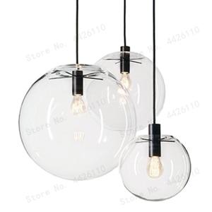 Image 2 - بلوبل العجائب الحديثة ارتفع الذهب كرة زجاجية نقية قلادة تسليم ضوء المصباح بريق LED زجاج الكرة بار المطبخ جودة عالية