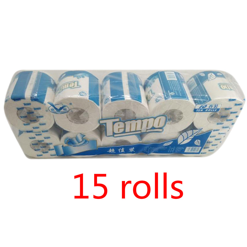 Fast Shopping 15 Rolls/Pack Home Kitchen Toilet Roll Paper Tissue Smooth Soft 3-Ply Toilet Paper Household Cleaning Paper Towels