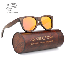Men's Sunglasses Polarized Bamboo Brown Processing Mirror Lens Sunglasses Ms. Brand Design Hyun Colors Handmade цены