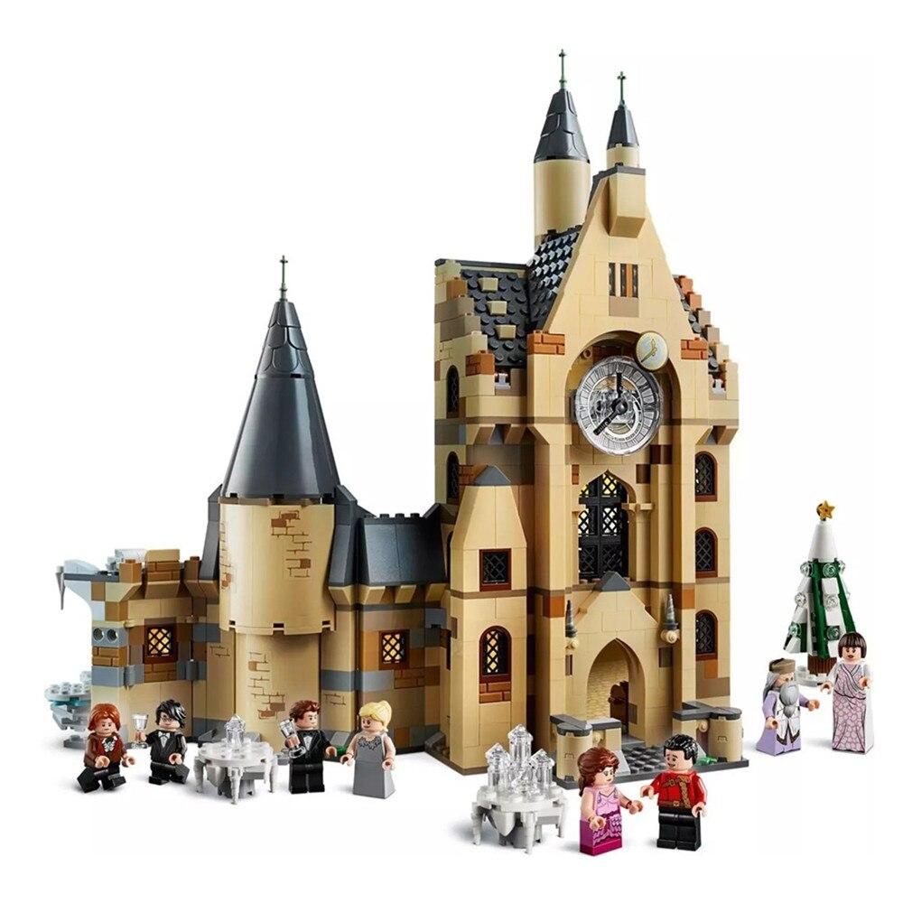 2019 nouveau Harris horloge tour Potter château modèle blocs de construction briques jouets pour enfants cadeau 75948