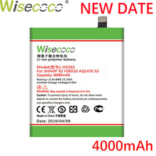 Wisecoco HE332 4000mAh New Powerful Battery For SHARP S2 Fs8010 AQUOS S 2 HE 332 CellPhone Replacement+Tracking Number