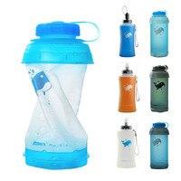 750ML Tragbare Outdoor Faltbare Sport TPU Weichen Wasser Flasche Klapp Wasserkocher Wasser Flasche Camping Reise Lauf Flasche-in Fahrrad-Trinkflasche aus Sport und Unterhaltung bei