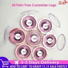 Free Put Logo 50 Pairs Wholesale 18Style Eyelashes Transparent Band False Eyelash Crisscross 3D Mink Lashes Handmade Eye Lashes