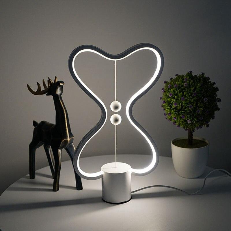 TOP!-7 Colors Heng Balance Lamp LED Night Light USB Powered Home Decor Bedroom Office Table Night Lamp Light