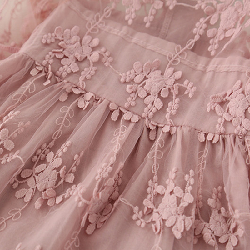 H3b5e99e26ab54556bb12898511dcb5dbk Girls Dress 2019 New Summer Brand Girls Clothes Lace And Ball Design Baby Girls Dress Party Dress For 3-8 Years Infant Dresses