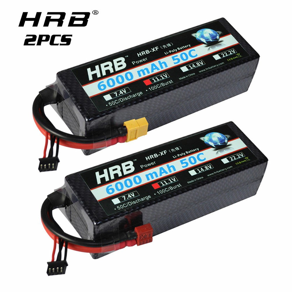Youme 11.1V Lipo Battery 3S Lipo Battery 6200mah 50C Hard Case Deans T Plug ...