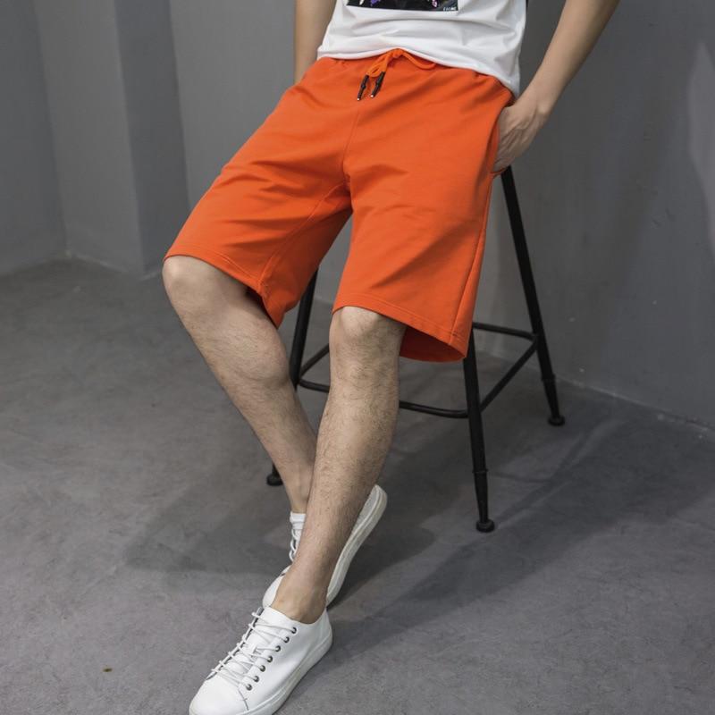 cotton shorts shorts men sweatpants mens casual shorts ropa para hombre casual Cotton Mid Knee Length