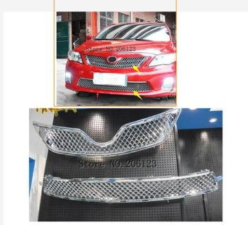 Car styling For Toyota Corolla Altis  20112012 2013 high quality ABS Chrome Front Grille Around Trim Racing Grills Trim