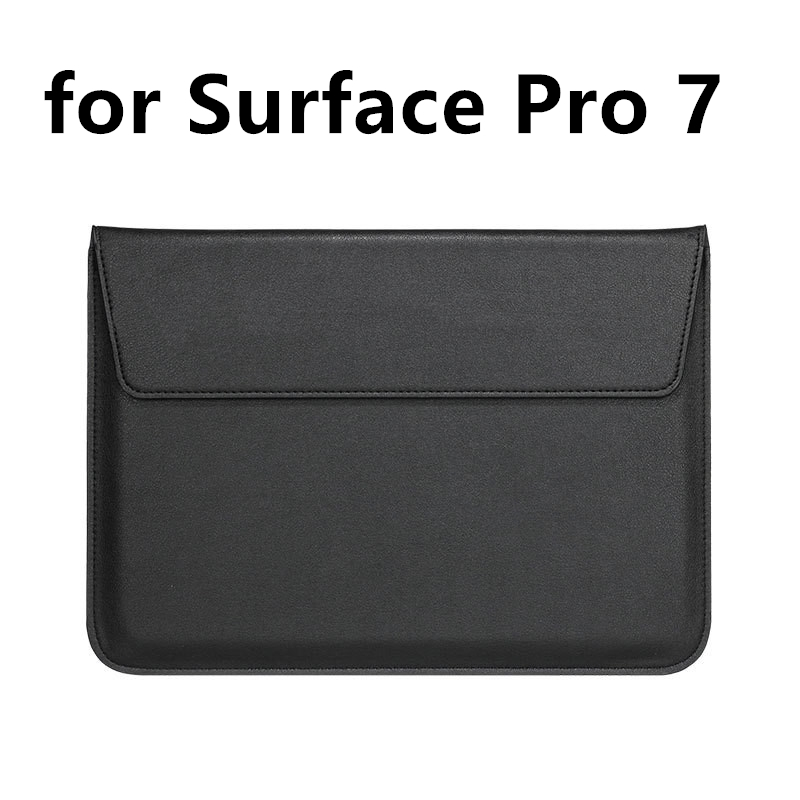 Leather Laptop Sleeve Bag for Microsoft Surface Pro 7 2019 Slim Protective Hard Notebook Cover Case for Surface Accessories