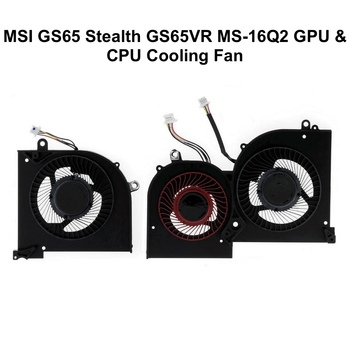 Original GPU CPU Cooling fans for MSI GS65 GS65VR MS-16Q2 Series Laptop CPU GPU VGA Cooler Fan 5V 4PIN 16Q2-CPU-CW BS5005HS-U31 1