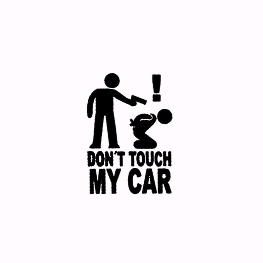 Don T Touch My Car Personalized Car Stickers Reflective Body Stickers