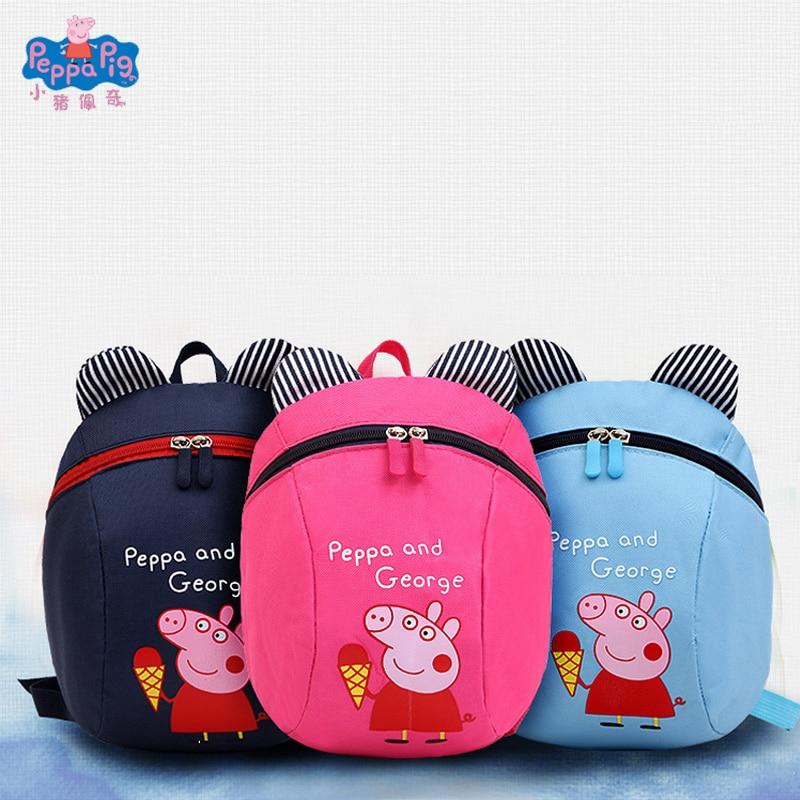 Peppa Pig Bag Cute Cartoon Page Child Messenger Bag Movie Anime Surrounding Stuffed Toys Backpack & Shoulder Bag Best Gift Toys