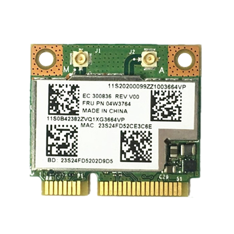 BCM943228HMB 04W3764 WIFI Wireless Bluetooth 4.0 Half MINI PCI-E Card Compact For Lenovo E130 E135 E330 E335 E530 E535 E430
