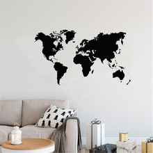 colorful world map wall decor 150x225cm large world map office supplies detailed antique poster wall chart for culture supplies Large World Map Vinyl Wall Decal Geographic Map Of The World Sticker Art Home Decor For Living Room Office Poster