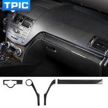 تزيين السيارة الداخلية TPIC ، قولبة الشريط ، ألياف الكربون ، التحكم المركزي ، لمرسيدس C Class W204