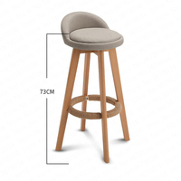 Wooden Nordic Modern Bar Stools Home High Stool Bar Stool Swivel Chair Leisure Back Chair Stool 63/73cm Seat Height