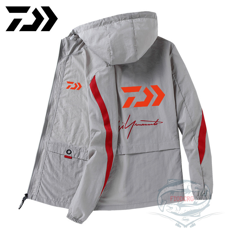 2020 Daiwa Outdoor Long Sleeve Sunscreen Fishing Clothes Waterproof Breathable Jacket Thin Jacket Hooded Fishing Clothing