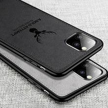 цена Luxury Phone Case For iPhone 11 Pro Max X XS X Capinhas Ultra Soft Frame Fabric Cloth Cover Case For iPhone 11 Coque Fundas Capa онлайн в 2017 году