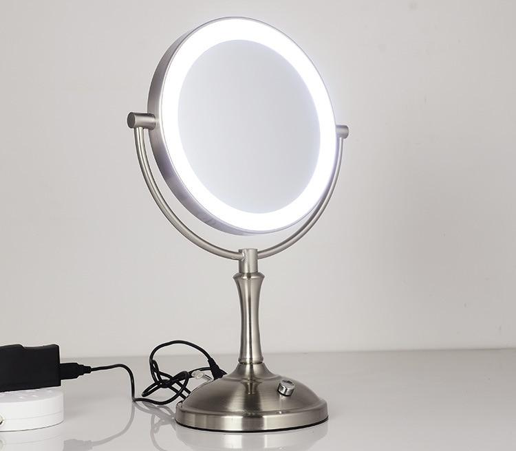 ampliação espelho cosmético led lâmpada ajustar o brilho