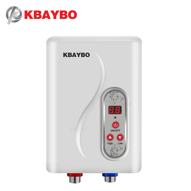7000W Instant Electric Tankless Water Heater Instantaneous Water Heater Instant Electric Water Heating fast 3 seconds hot shower-in Electric Water Heaters from Home Appliances