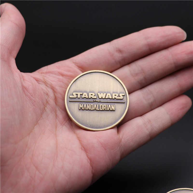 Insigne de Cosplay Star Wars, The Mandalorian, collection de pièces de monnaie, chasseur de primes, Boba Fett, en métal, pour les Fans de commémoration 3D, cadeau fantaisie de noël