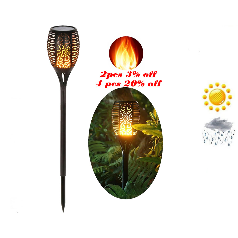 Solar Lawn Dancing Flame Torch Lights Radar Flameing Torch Flame Lamp Flickering Bulb Dancing Lawn Lamps Path Lighting Torch Lig