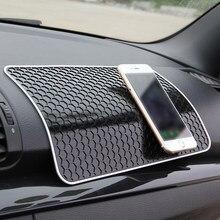 Duży rozmiar antypoślizgowa mata do samochodu Auto silikonowe antypoślizgowa mata Pad samochód deski rozdzielczej Dashboard przyklejony do telefonu komórkowego monety klucz uchwyt Auto akcesoria