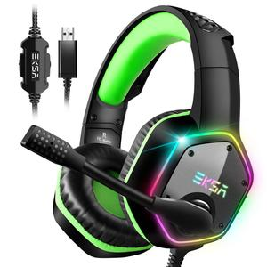 Image 1 - EKSA E1000 Gaming Headphones With Noise Cancelling Microphone RGB Light 7.1 Surround Sound Wired Gaming Headset Gamer For PS4 PC