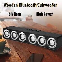 עץ קול בר אודיו מרכז Bluetooth רמקול תיבת בית תיאטרון מערכת Woofers עבור רמקולים עם סאב Soundbar Boombox