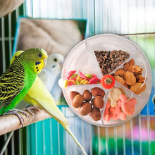 Wheel Type Parrot Feeding Box Food Containers Bins Bird Chew Toy Parrot Pigeon Bird Feeder Pet Supplies(China)