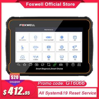 Foxwell GT60 OBD2 profesional herramienta de escaneo de diagnóstico de coche sistema completo lector de código 19 restablecer las funciones ODB2 OBD 2 escáner automotriz