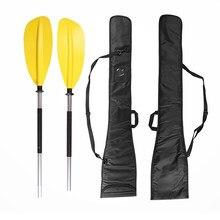 Oxford caiaque paddle com alça de transporte à prova dwaterproof água dividir saco remo ao ar livre barco inflável acessórios 126*26cm paddle