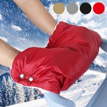 Zimowe ciepłe rękawice spacerowe rękawiczki wózek ręczny Muff wodoodporny wózek akcesoria Mitten Baby Clutch Cart rękawice ogrodowe tanie i dobre opinie bioby COTTON Other Stroller Mittens 14 T