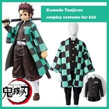 Детский костюм из аниме «рассекающий демонов», костюм киметсу no Yaiba, костюм камадо танджиро для косплея, парики для Хэллоуина, карнавальный ...
