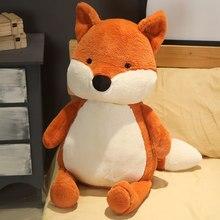 Quente huggable kawaii raposa boneca de pelúcia animais de pelúcia brinquedos para crianças menina menino crianças bonito dox presente macio dos desenhos animados presentes de natal