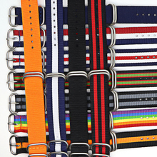 купить 18mm 20mm 22mm 24mm Army Sports Nato Strap Fabric Nylon Watchband Buckle Belt for 007 James Bond Watch Bands Colorful Rainbow по цене 128.96 рублей