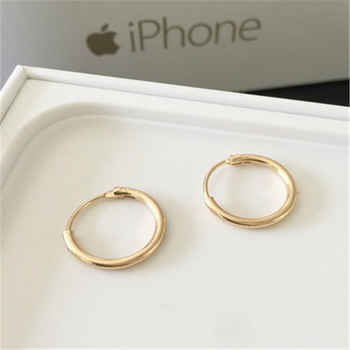 Cool Punk Men\'s Hoop Earrings For Woman Piercing Hypoallergenic Round Circle Earrings Vintage Korean Couple Earring Jewelry Gift